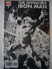 Invincible Iron Man #7 Black & White Sketch Variant